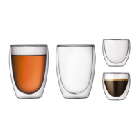 Bodum Double Wall Glass Set' Set 4 Gläser  0.08l und 0.35l