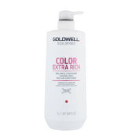 Goldwell Dualsenses Color Extrarich Brilliance Conditioner - Coloured Thick Hair Conditioner - 1l